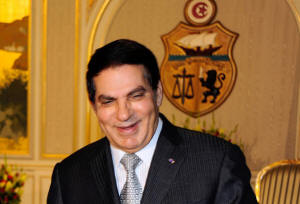 "The Other Mr. 10 Percent? Tunisian President Zine el-Abidine Ben Ali is asserted to be among the world's most corrupt dictators, giving the president known as  ""Mr. 10 Percent,"" Pakistan's Asif Ali Zardari, a run for his corrupt millions. Photo: Palestinian Press Office"