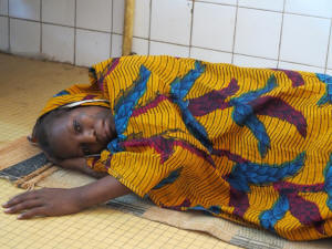 Balki Souley, 14, lost her baby during childbirth in a hospital in Maradi, Niger. Hospital officials said it was because of her age and the fact that she had eaten very little during her pregnancy. �When I return to my village, I will try to have another child,� said Balki, who was married at age 12. Photo: Sudarsan Raghayan/Washington Post