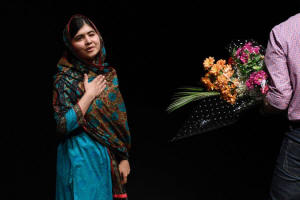 Malala Yousafzai, 17, said she was honored to be the youngest person to receive the award.  Photo: Oli Scarff/Agence France-Presse � Getty Images
